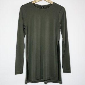 Club Monaco Olive Green Modal Long Sleeve Top